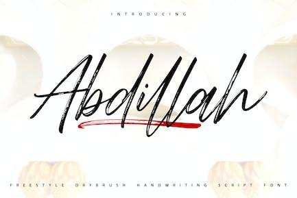 Abdillah | Handwriting Script Font