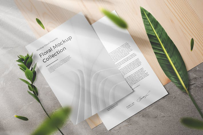 Thumbnail for Floral Packaging and Branding Mockups
