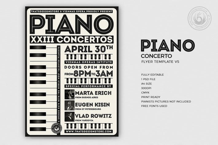 Thumbnail for Piano Concerto Flyer Template V5