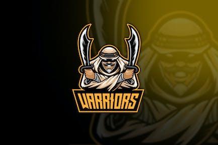 Arabian Warrior Esport Logo Template