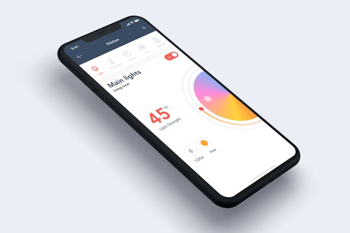 Thumbnail for Smart Home mobile App UI Concept