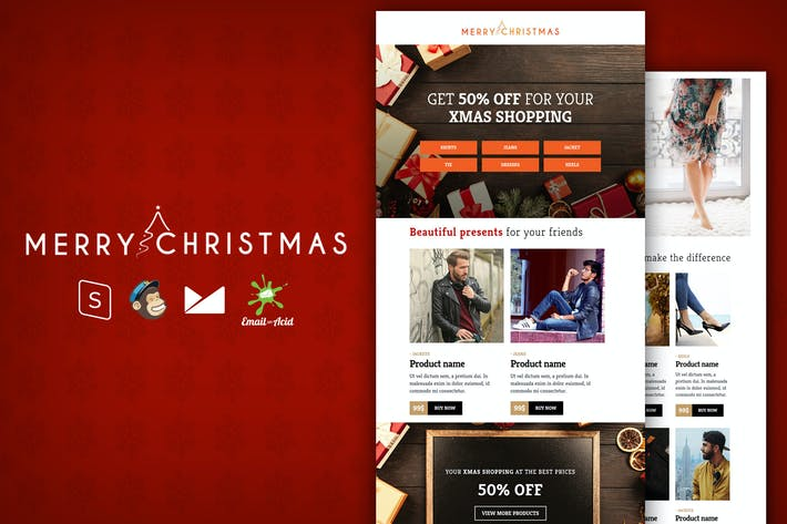 Thumbnail for XMAS - E-commerce Responsive Email Template