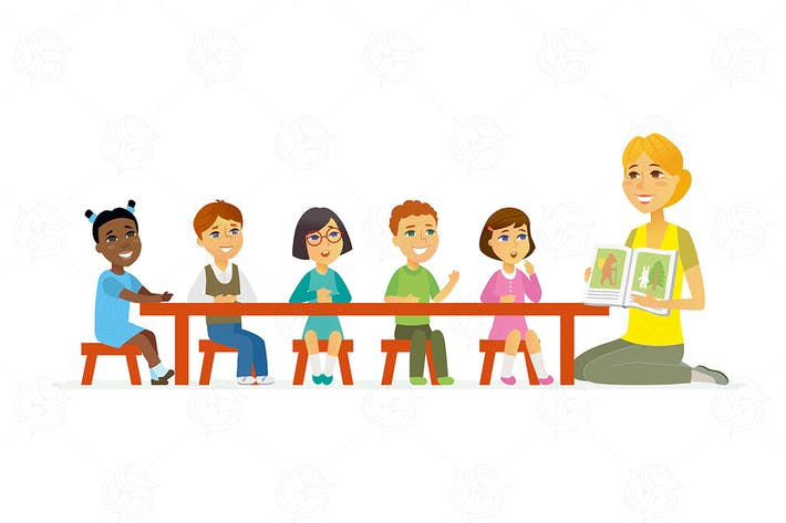 Thumbnail for International kindergarten -  vector illustration