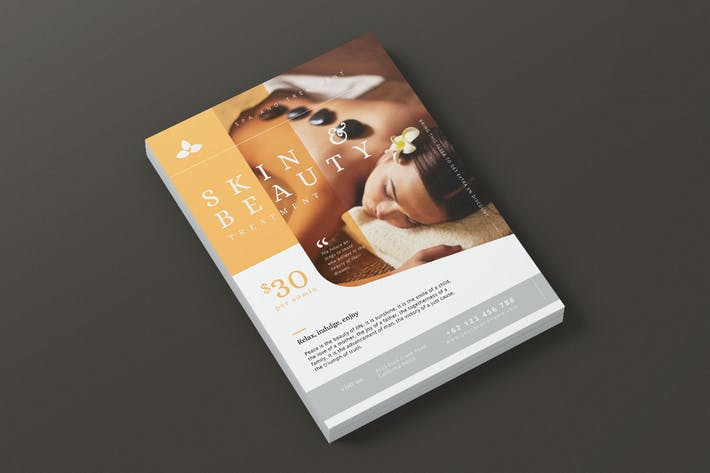 Thumbnail for Beauty Spa Promotion AI and PSD Flyer Vol.3