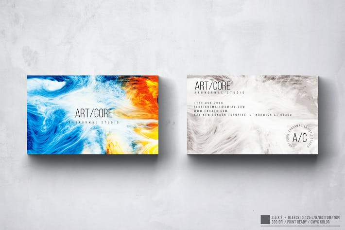 Thumbnail for Art Core Business Card Design