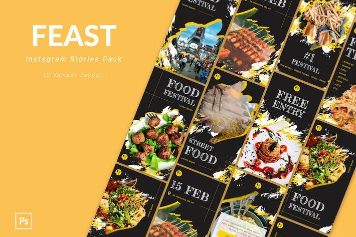 Thumbnail for Feast - Instagram Story Pack