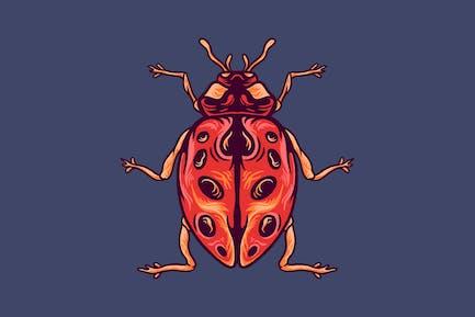 Beetle animal illustration