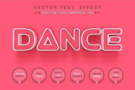 Dance outline - editable text effect, font style
