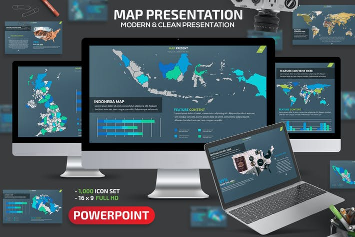 Thumbnail for Map Powerpoint Presentation