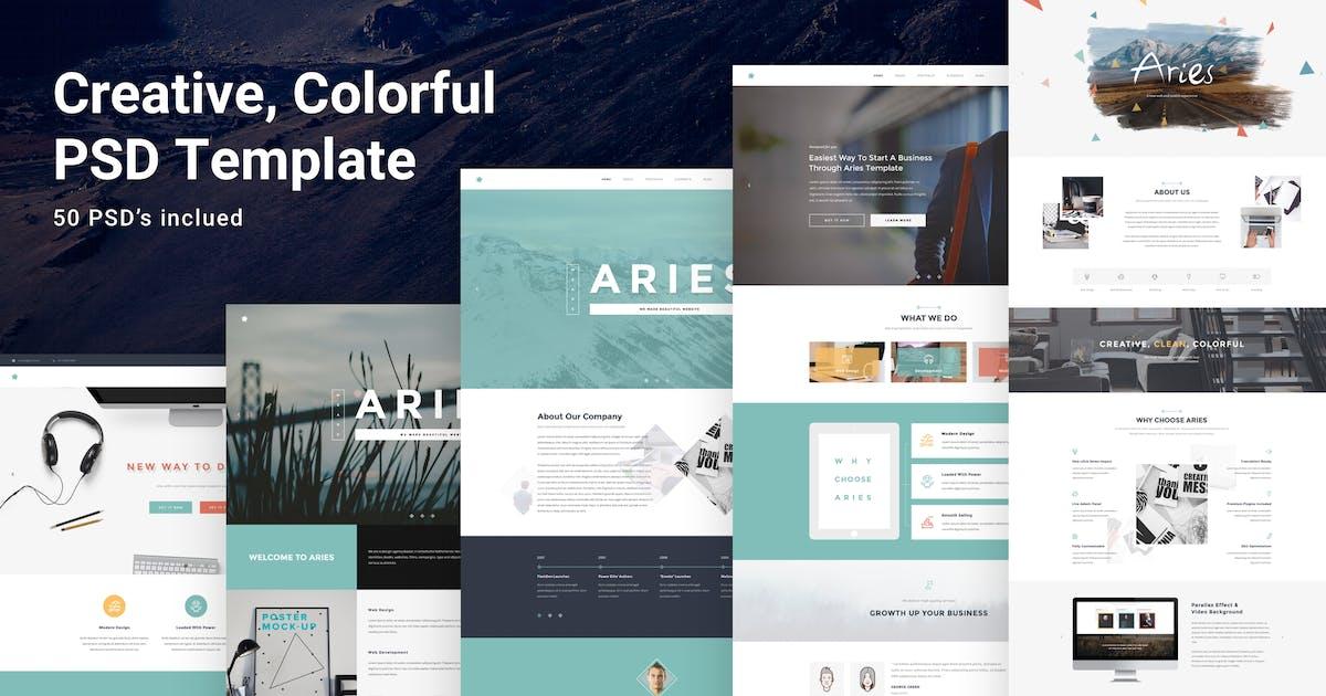 Download Aries - Multipurpose Creative PSD Template by AlitStudio