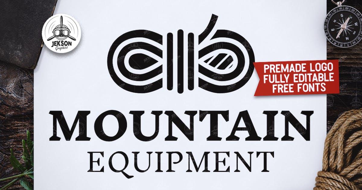Retro Mountain Logo, Vintage Travel Custom Badge by JeksonJS