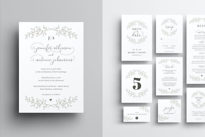 Thumbnail for Wedding Invitation Set