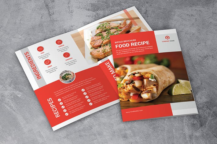 Thumbnail for Bifold food Brochure