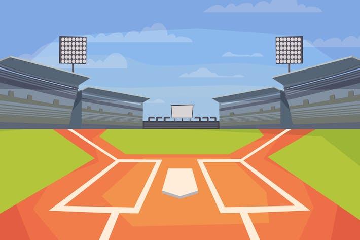 Thumbnail for Baseball Stadium - Illustration Background