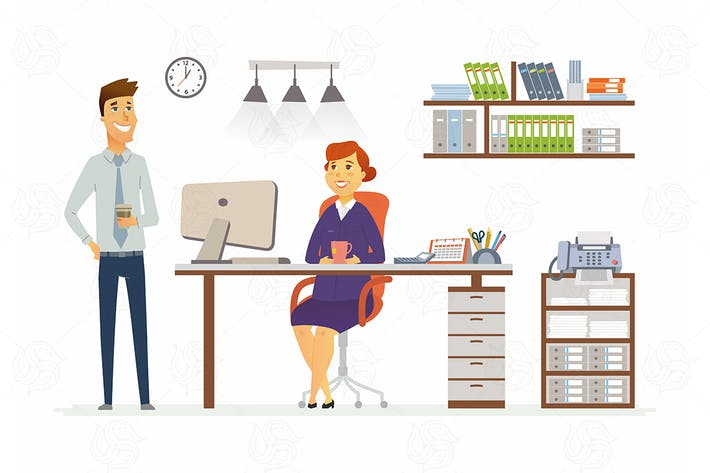 Thumbnail for Office Consultation - vector cartoon illustration