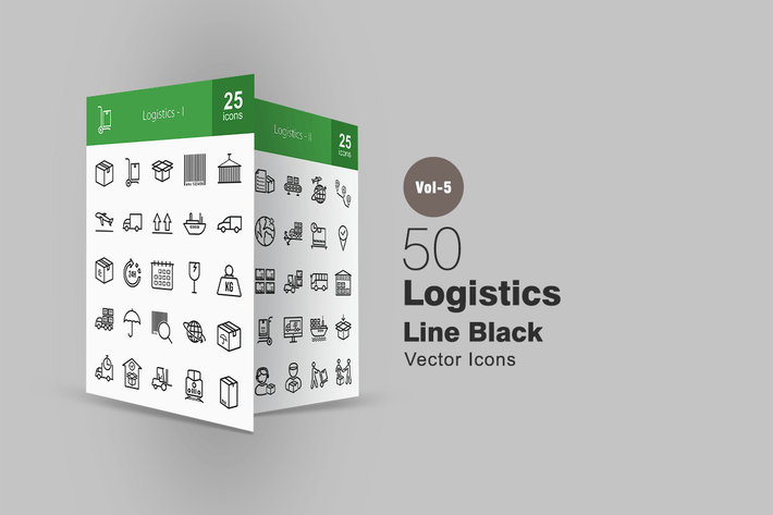 Thumbnail for 50 Logistics Line Icons