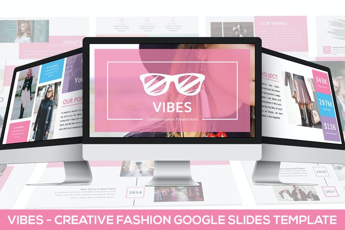 Thumbnail for Vibes - Creative Fashion Google Slides Template