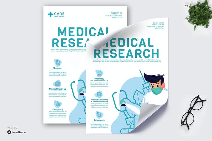 Thumbnail for Medical Research - Creative Poster GR