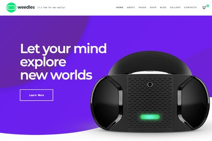 Weedles | Virtual Reality Landing Page & Store WP