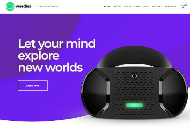 Weedles | Virtual Reality Landing Page & Store WP - product preview 0