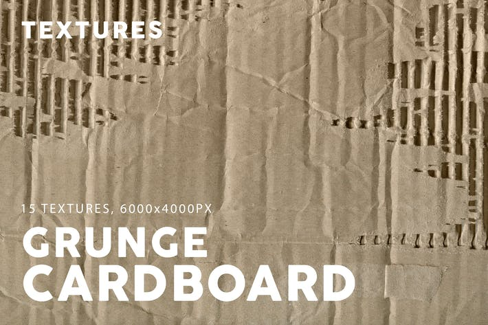 Cover Image For Grunge Cardboard Textures