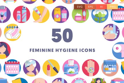 50 Hygiene-Icons für