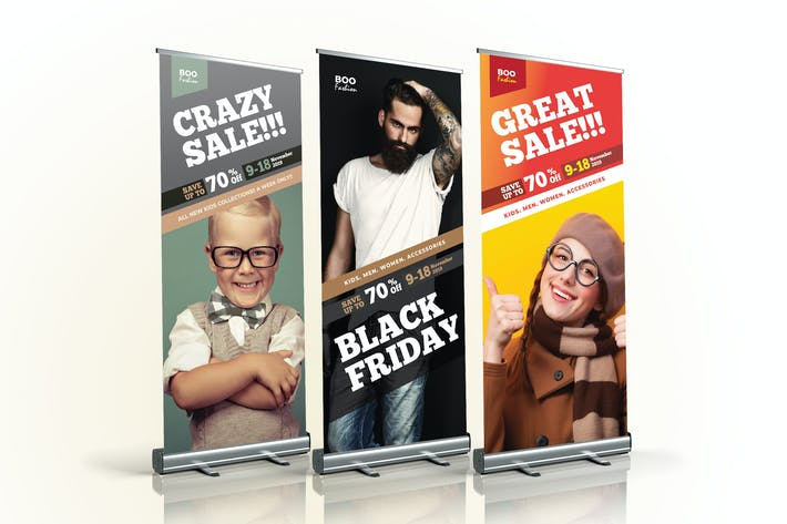 Cover Image For Fashion Sale Roll Up Banner
