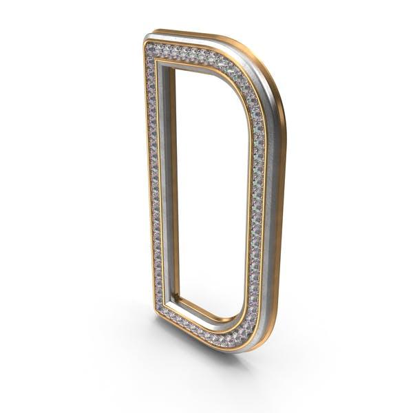 Diamantes Bling Letra D