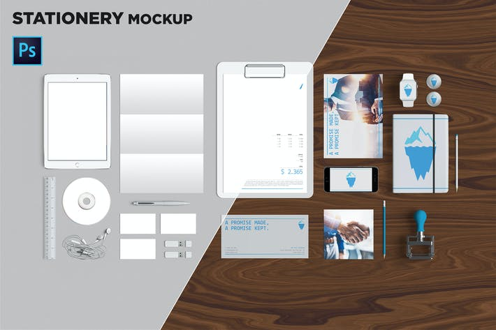 Thumbnail for Brand Identity / Stationery Mockup 08