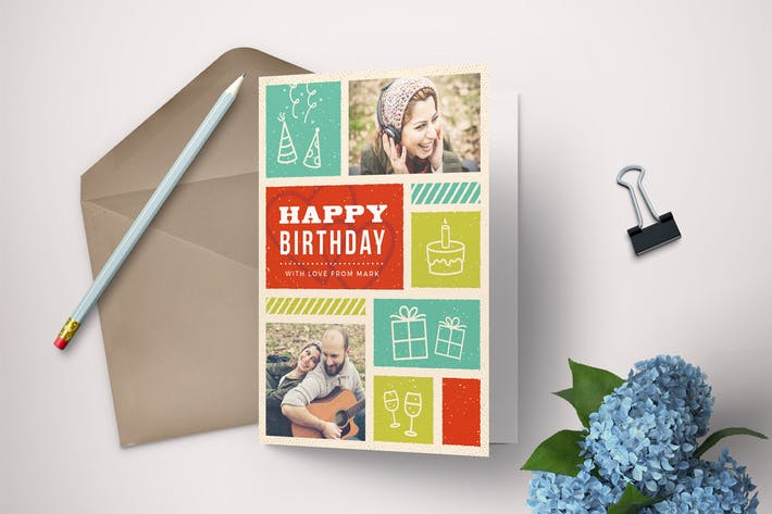 Thumbnail for Retro Birthday Card