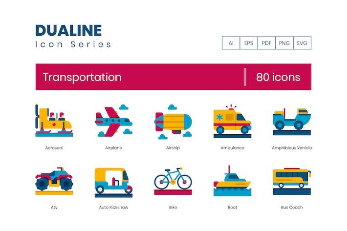 Thumbnail for 80 Transportation Flat Icons