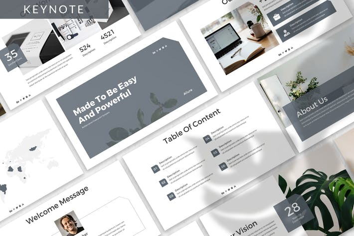 Thumbnail for Allure - Business Keynote Template