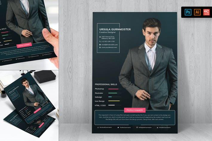 Thumbnail for Resume CV Template-30