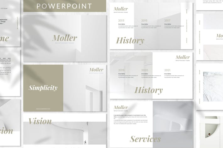 Thumbnail for Moller - Lookbook Powerpoint Template