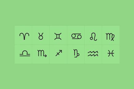 12 Horoscope Symbol Icons