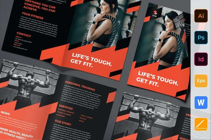 Thumbnail for Gym Training Brochure Bifold