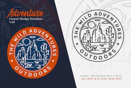 Adventure Monoline Logo Badge Template V.01