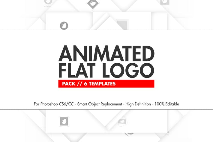 Thumbnail for Animated Flat Logo Pack - Photoshop Templates