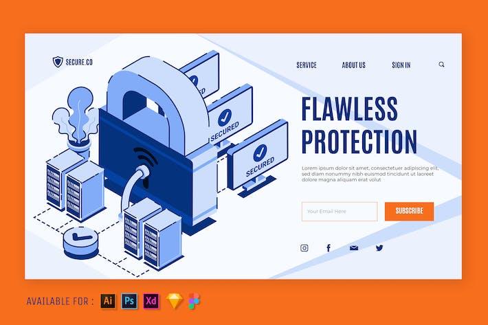 Full Protection - Isometric Web Illustration