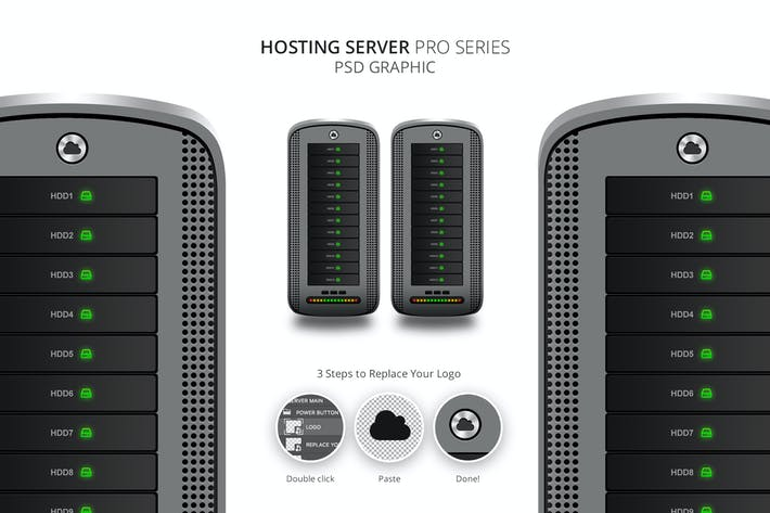 Thumbnail for Hosting Server Pro Series GRAY Single PSD