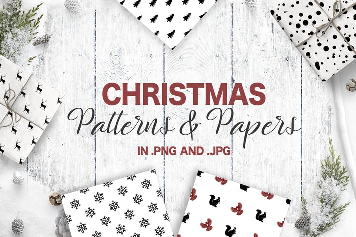 Thumbnail for Christmas Patterns Collection. Seamless patterns