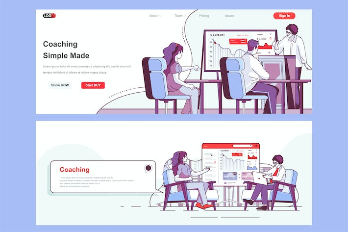 Thumbnail for Coaching Header Footer or Middle Content