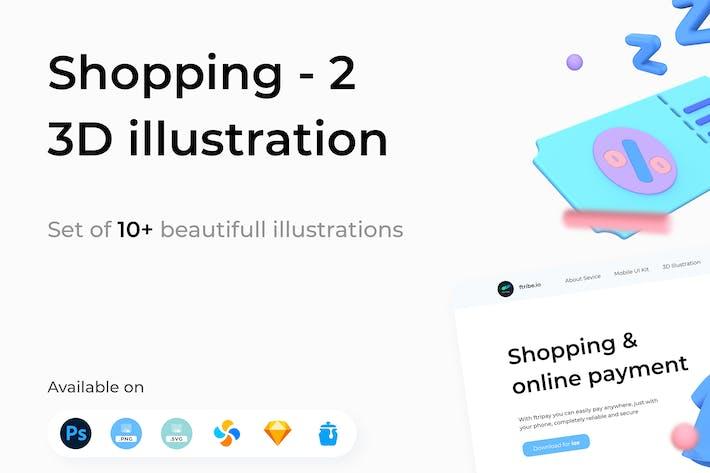 Shopping 3D Illustrationen Teil 2