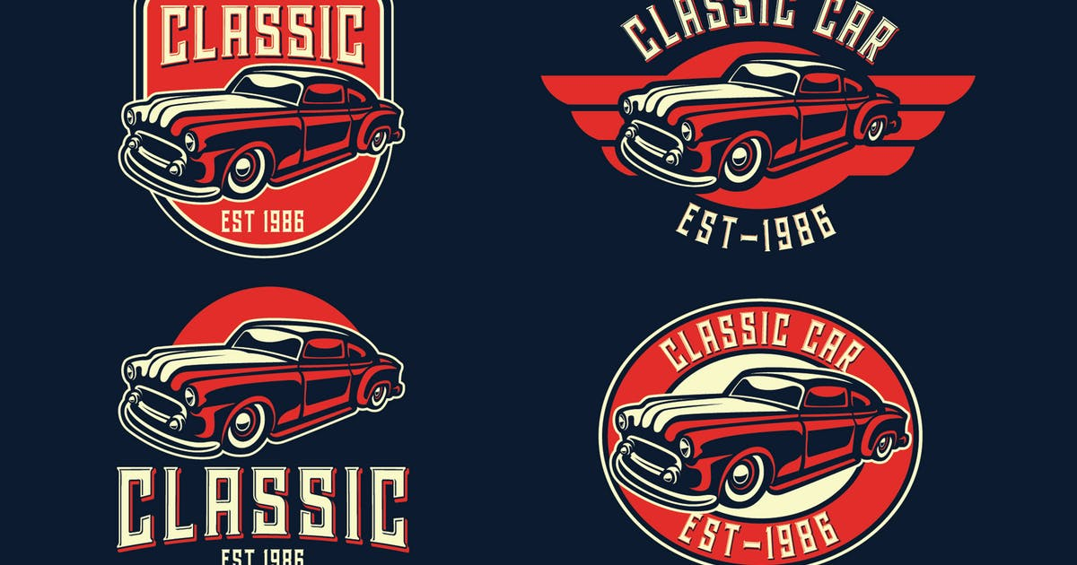 Download Classic Car Vintage Logo Template by Blankids