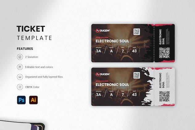 Ticket Mock-up - Dugem 1