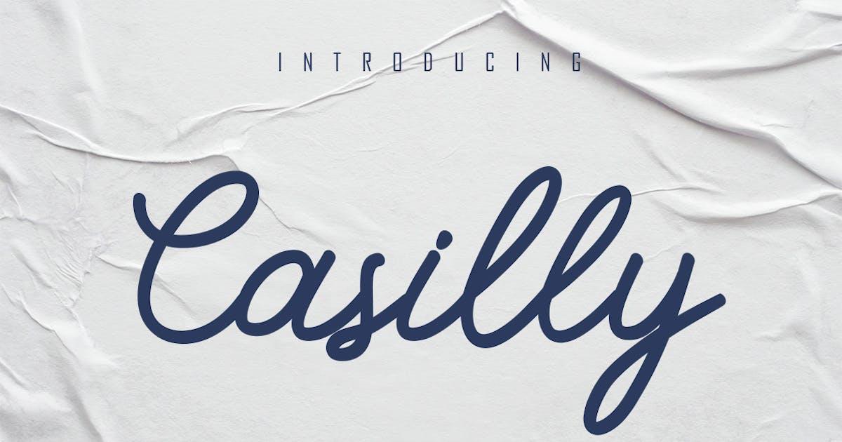 Download Casilly - Monoline Handwritten by Skiiller_studio