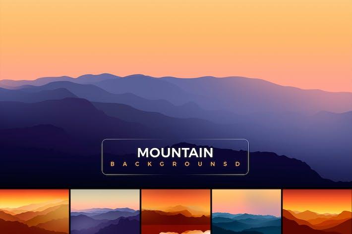 Arrière-plans de montagnes