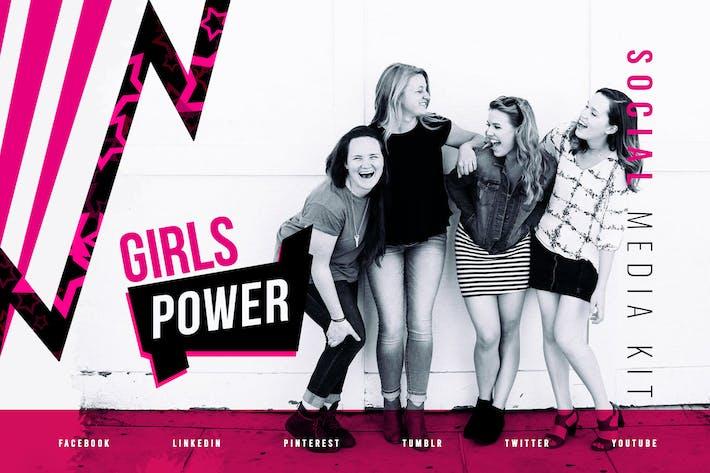 Thumbnail for Girls Power - Kit Medios de comunicación Social