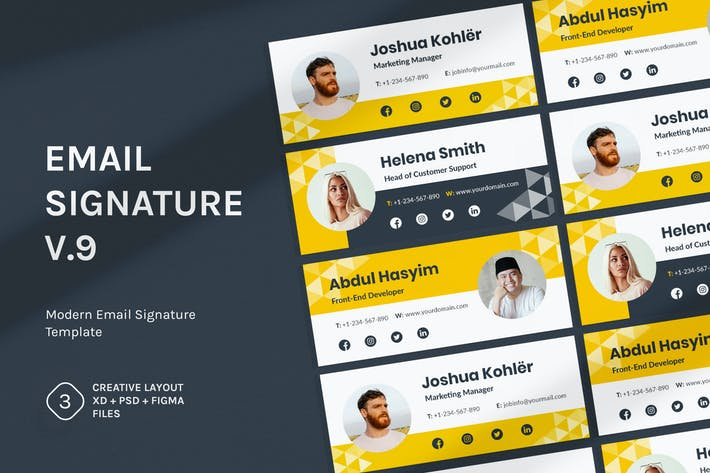 Thumbnail for Email Signature v.9
