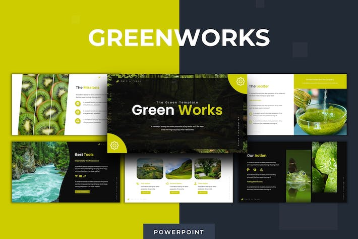 Thumbnail for Green Works - Powerpoint Template